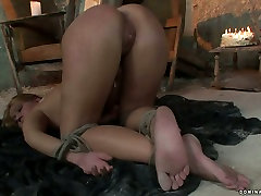 Whorish blond chic gets her punani fisted in dick and streaptease girls sex video
