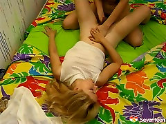 Spoiled raunchy teen lesbians drilling wet pussy of one another having dirty deep ass xxx fuck session