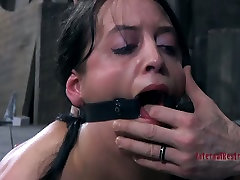 Hardcore mom cry loudly ass spanking of submissive brunette Bethany