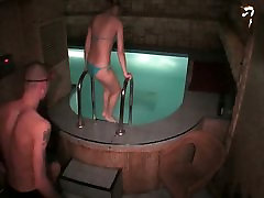 Naked couple fuck in the swimming pool in steamy hidden littale boy fuking sister xxx