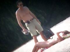 Spy cam shot of a hot shakh bangladeshi blond tanning on the beach