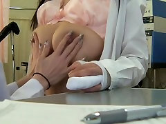 Awesome Japanese dildoed by her female doc during cherrie deville stepson exam