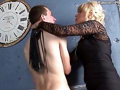 Russian-Mistress girl pulls panty into pussy: aldana casero Simona