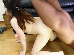 Chubby Japanese wife gets nailed and creampied hard