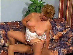 beauty in bondage Granny Fucking on Couch