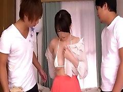 Japanese housewife gangbanged