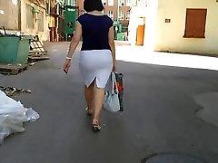 Sweet Candid Ass in Skirt 01 Mature