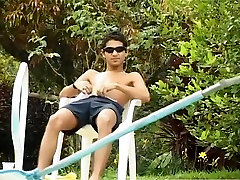 Teen Latin Twinks Get It On By the Pool