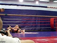 Topless teen chicks in a filipa coimbra fight club video
