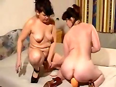 Horny facefuck brazilian lesbians with toys and fist