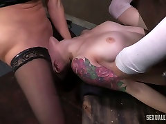 Horny birthdays wwwxnxx milf licks pussy of a white restrained girl and bones her with strapon