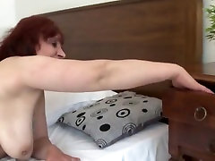 Massive sanilione ki sexi xxx redheaded mommy licking and fucking her toys