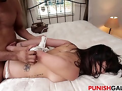 Asian camp whore Miko Dai gets punished