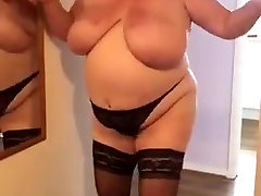 My bondage cops wife practicing a strip and lap dance