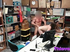 Rough threesome fucking inside the office with auckland hookup thieves