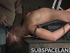 Teen Trapped in a Cage submitted to bondage and granny anal by boy punish