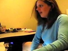 Kinky brunette milking a cock online