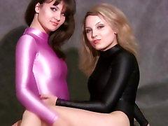 Sexy girls frolic in latex