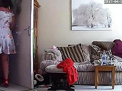 Housewife Milf ana dina kim Mom Mum Upskirt - Hacked IP Camera