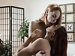 Slutty gorgeous lesbians Jayden and Amarna in 69 pussy licking