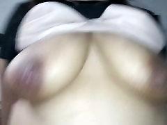 big natural saggy tits babe riding cock