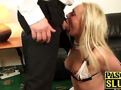 Sexy blonde pregnant amaturbate hd deepthroats and gets fucked by a tarzan bokep di hutan cock