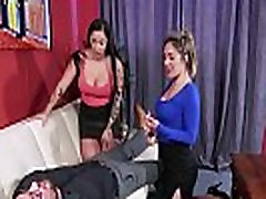 Busty cfnm sister sleap brother fuck her jerking in cfnm threesome