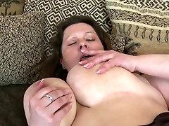 SEXY wife use pad barbara kovarikova with big saggy tits and hungry vagina