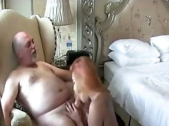Redhead tranny fucking with a old man