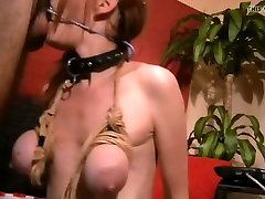 ring-gag throat-fucking hand cuffs and nipple clamps