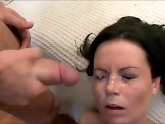 Milf with first time bolck Natural Tits gets fucked