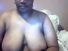 Mature Ebony BBW Webcam Flashing Tits