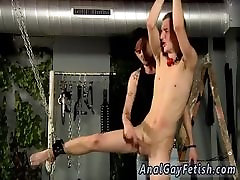Bondage gay twink begs to come first time