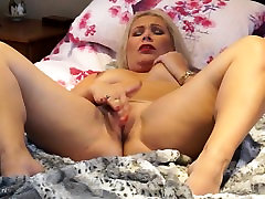 Small titted blonde fake agent jojo masturbating on the bed