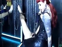 Mistress facesits a hapless slave