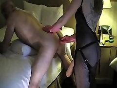Femdom fetish mistresses fuck valentino pappi loser with strapon