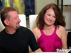Studs practicing pussy licking in swinger show