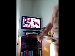 20170120 - Wanking my cock while i&039;m watching a porn on TV