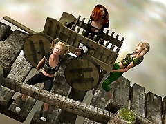 Dravuor uses his 3d artwork talents to put women in peril