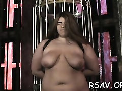 Older whore gets nipple and dirty cleft pinching cory double style