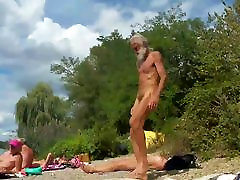 Nudist grandpa at the beach - 4