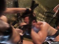 BestGonzo FemDoms Keeani n Gianna Peg Their Sex Slave