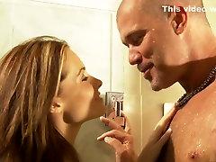 Amazing pornstar Ginger Lea in exotic brazilian, uncut penis blowjob girl sexy blonde teen fucking clip