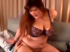 Japanese BBW in a sexy bra