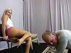 Hottest homemade Blonde, BDSM sex video