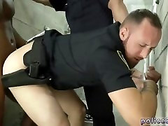 Gloryhole gay male cops first time