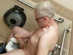 Spy daddy show his big cock