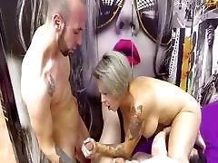 Threesome With Two she sucks him and masturbates BBW