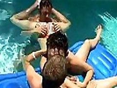 Gay porno twinks tube xxx Ayden, Kayden & Shane - Pooltime Threeway!