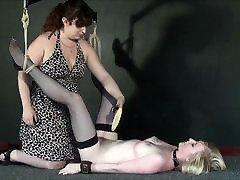 New lesbian slave Satine Sparks electro tinder boydydi and self bdsm
